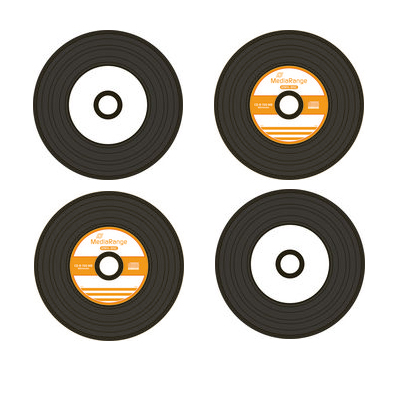 CD-R s mit dem Aussehen einer Schallplatte